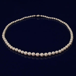 18÷ Graduated White Fresh Water Pearl Necklace