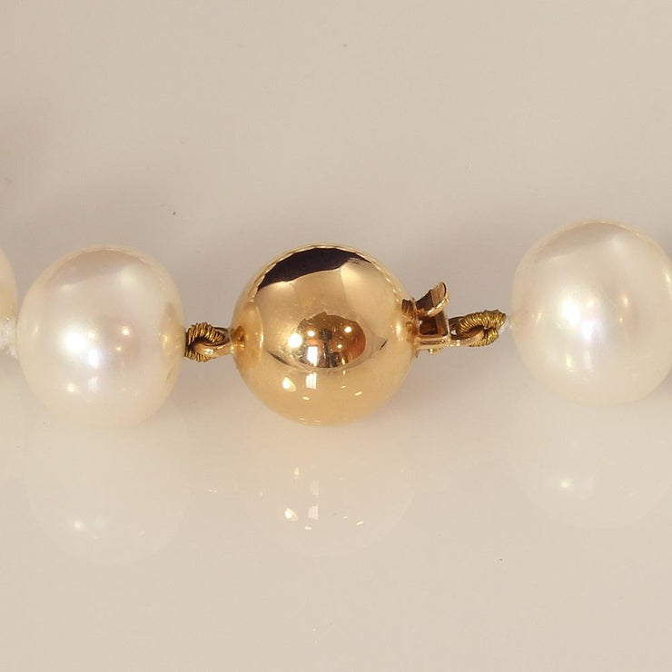 9.5-10mm Southsea Pearl Bracelet With 18ct Rose Gold Clasp