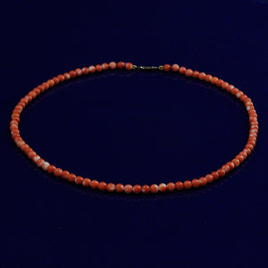 "Coral 17"" Bead Necklace with 9ct Clasp"