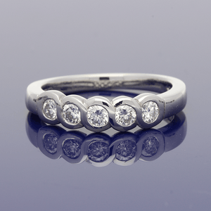 Platinum & Diamond 5-Stone Ring