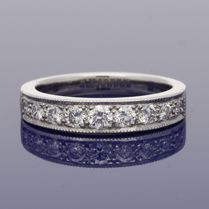 Platinum Graduated Diamond Eternity Ring