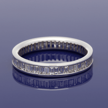 18ct White Gold Baguette Cut Diamond Full Eternity Ring
