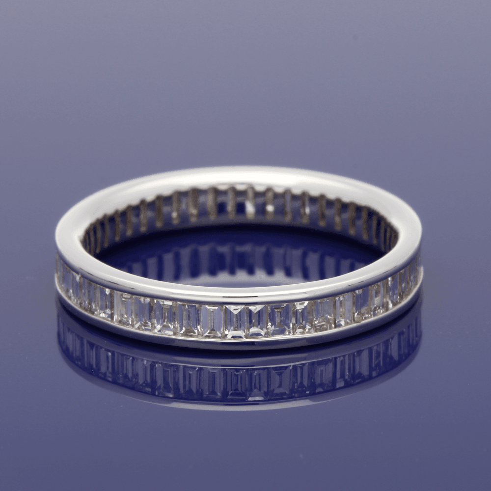 dd6c4ee88e33d2 18ct White Gold Baguette Cut Diamond Full Eternity Ring – GoldArts