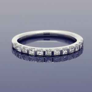 18ct White Gold Princess Cut Diamond Eternity Ring