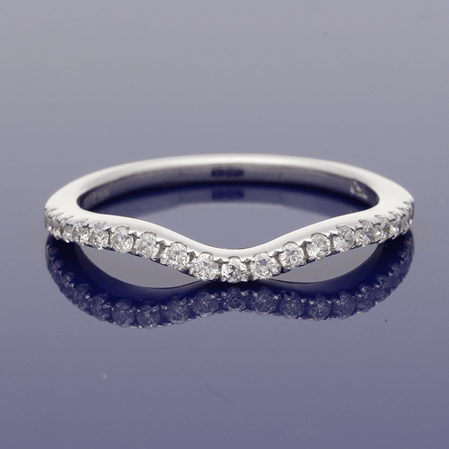 18ct White Gold Diamond Shaped Eternity Ring