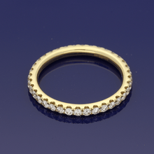 18ct Yellow Gold Diamond Full Eternity Ring