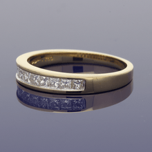 18ct Yellow Gold Princess Cut Diamond Eternity Ring