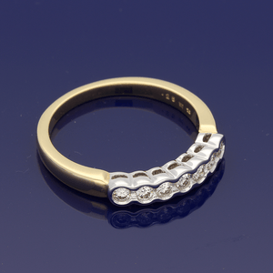 18ct Yellow Gold Diamond Rub-over Eternity Ring