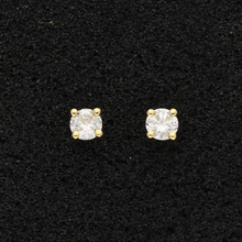 18ct Yellow Gold Diamond 0.62ct Stud Earrings