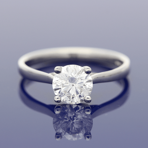 Platinum 1.13ct Diamond Solitaire Ring
