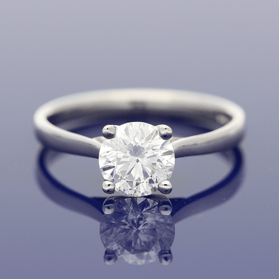 Platinum Certificated 1.13ct Diamond Solitaire Engagement Ring