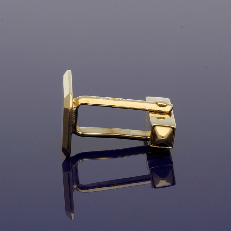 18ct Yellow Gold Satin Finish Cufflinks
