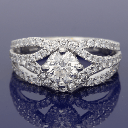 Platinum Certificated Diamond Dress Ring
