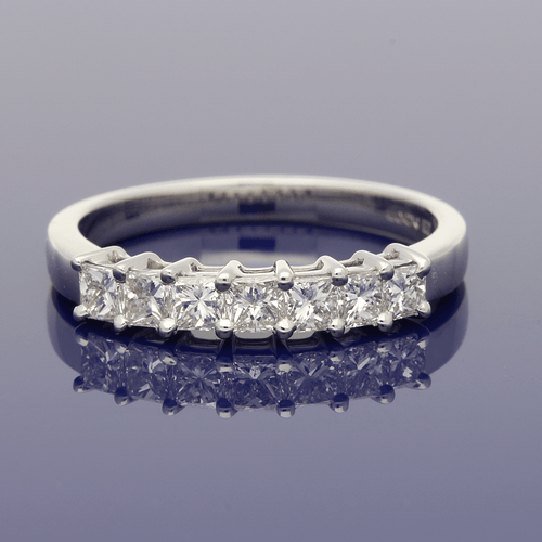 Platinum Princess Cut Diamond 7-Stone Ring