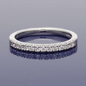 Platinum Diamond Half Eternity Ring