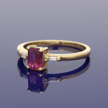 18ct Yellow Gold Ruby & Diamond Trilogy