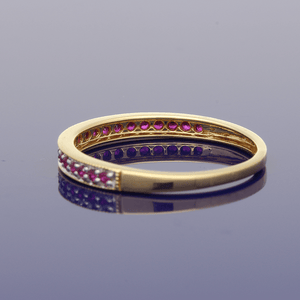 18ct Yellow Gold Ruby Eternity Ring