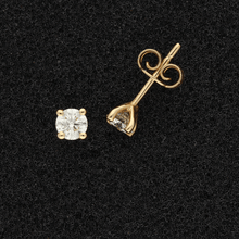 18ct Rose Gold Diamond Studs