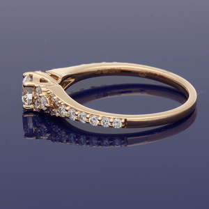 18ct Rose Gold Diamond Cluster Ring