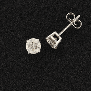 18ct White Gold Diamonds 1.48ct Stud Earrings