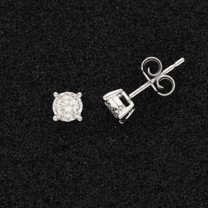 18ct White Gold Diamond 37pt Stud Earrings