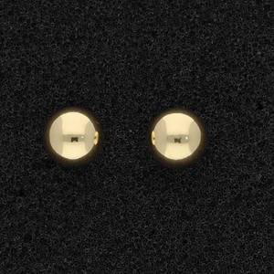 18ct Yellow Gold 7mm Ball Stud Earrings
