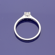 Platinum Certificated 0.41ct Diamond Solitaire Engagement Ring with Diamond Set Shoulders