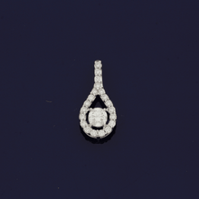 18ct White Gold Diamond Tear-Drop Pendant