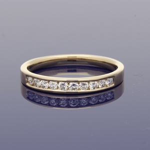 18ct Yellow Gold Diamond Half Eternity Ring
