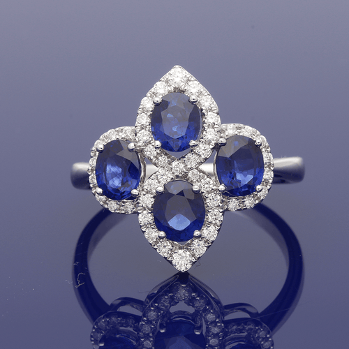 Plat Sapphire & Diamond Dress Ring