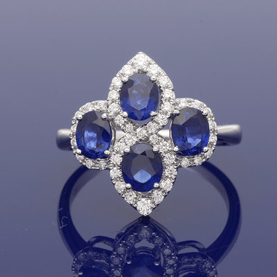 Platinum Sapphire & Diamond Dress Ring