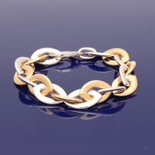 9ct Rose & White Fancy Link Bracelet