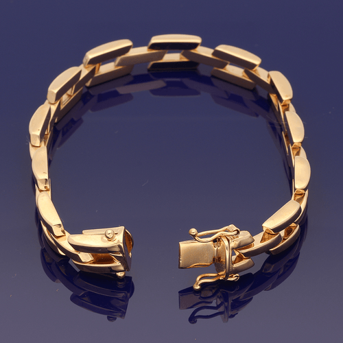 9ct Rose Gold Fancy Link Bracelet