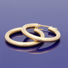 9ct Yellow Gold 20mm Hoop Earrings