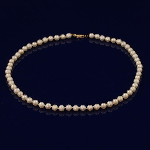 5.5-6mm White Fresh Water Pearl Necklace