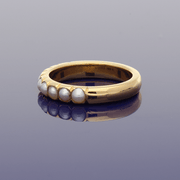 22ct 1930's Pearl Eternity Ring