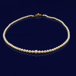 "Graduated Akoya Pearl 17"" Necklace"