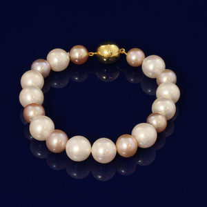 9-12mm Multi Colour Fresh Water Pearl Bracelet
