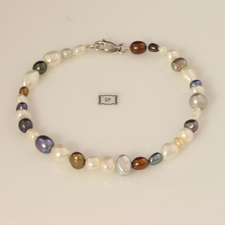 Multi-Colour Fresh Water Pearl Bracelet