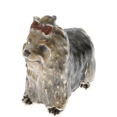 Silver Enamel Yorkshire Terrier - Small