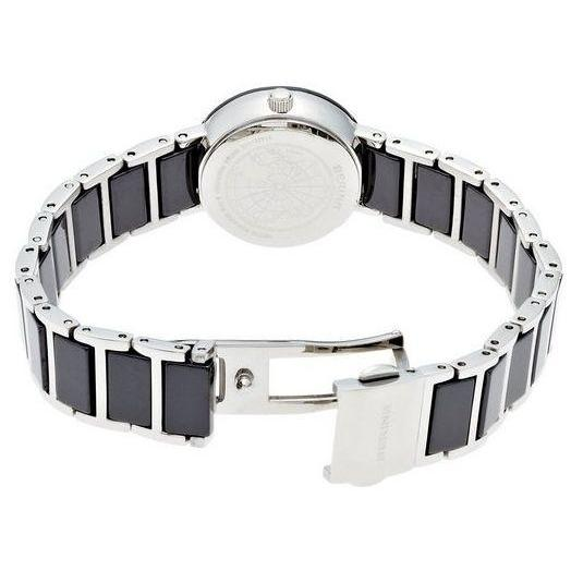 Ladies 22mm 2 Tone Ceramic And Stainless Steel Bering Bracelet Watch