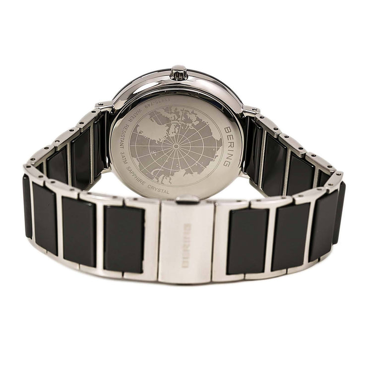 Ladies 35mm 2 Tone Ceramic And Stainless Steel Bering Bracelet Watch
