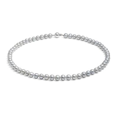 Jersey Pearl 7-7.5mm Classic Freshwater Pearl Necklace 18""
