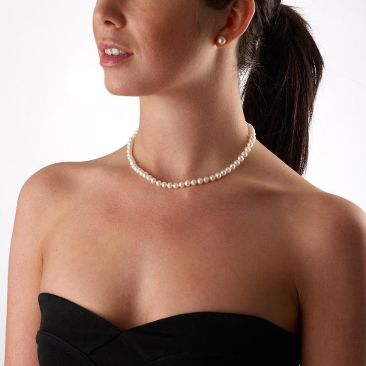 Jersey Pearl 5-5.5mm Classic Freshwater Pearl Necklace 18""