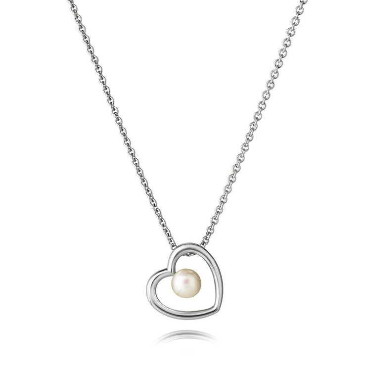 Jersey Pearl Kimberley Selwood Collection 4-4.5mm Freshwater Pearl And Silver Necklace 16/18""
