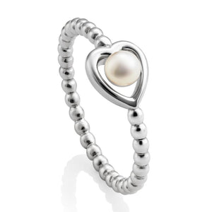 Jersey Pearl Kimberley Selwood Collection 3-3.5mm Freshwater Pearl And Silver Ring