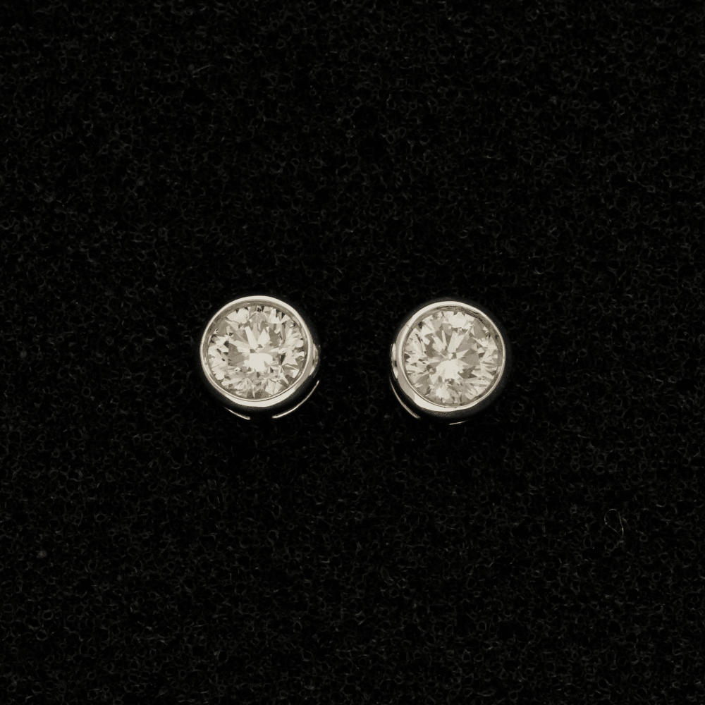 18ct White Gold Diamond 0.75ct Stud Earrings