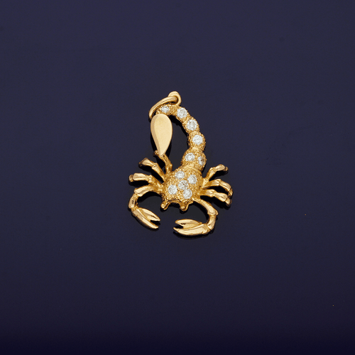 9ct Rose Gold Diamond set Scorpian 0.50pt pendant