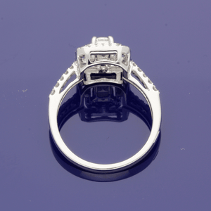 18ct White Gold & Diamond Cluster Ring