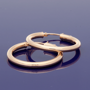 9ct Rose Gold 20mm Hoop Earrings